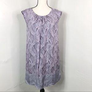 H&M Purple Paisley Keyhole Back Shift Dress 6